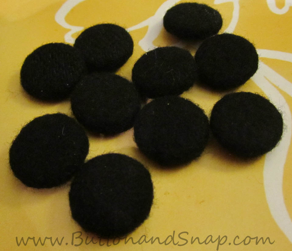 upcycle of old buttons by hand-covering them in wool felt