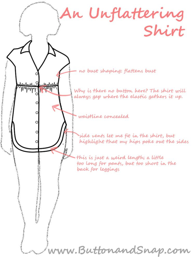 The unflattering details of a shirt