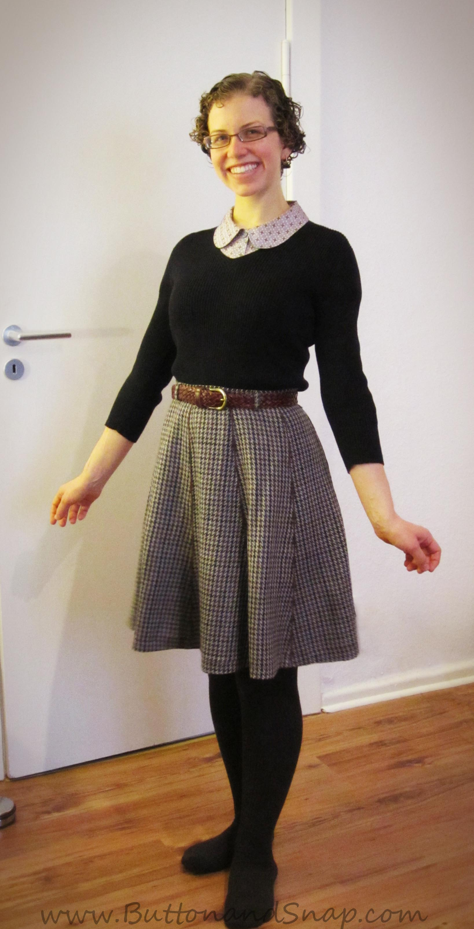 This retro a-line skirt was once a low-cut trumpet style from 2002
