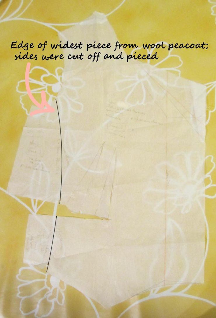 sewing pattern alteration for piecing