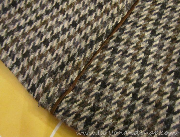 Sewing a hem by machine