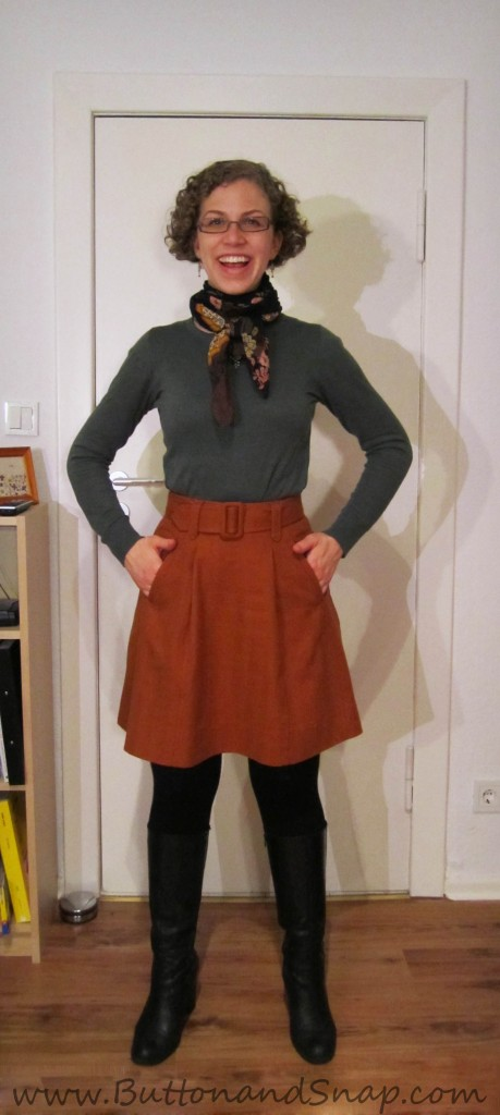 Bonus refashion - Target rust skirt