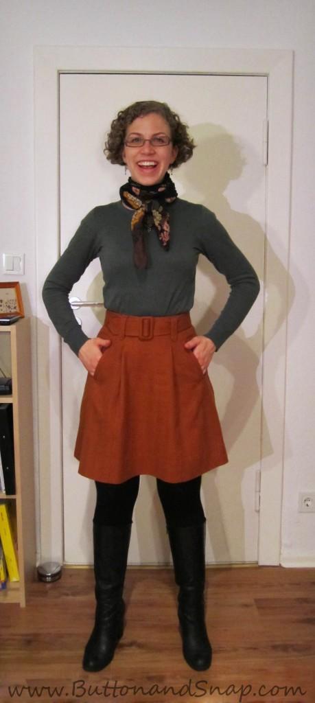Bonus refashion - Target rust skirt