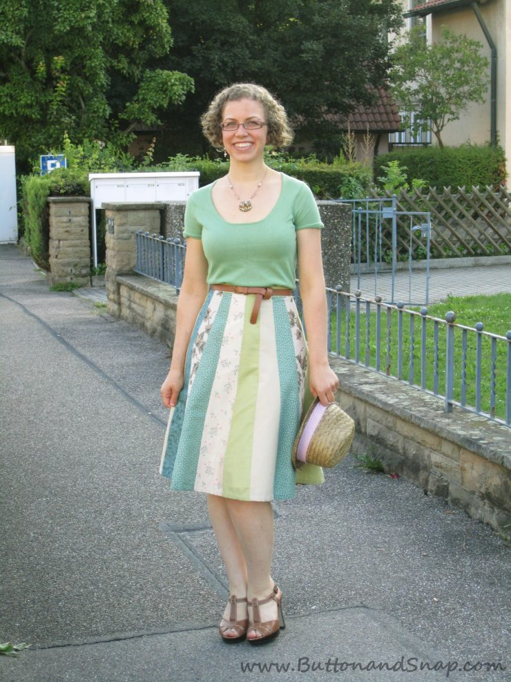 Skirt made from Scraps