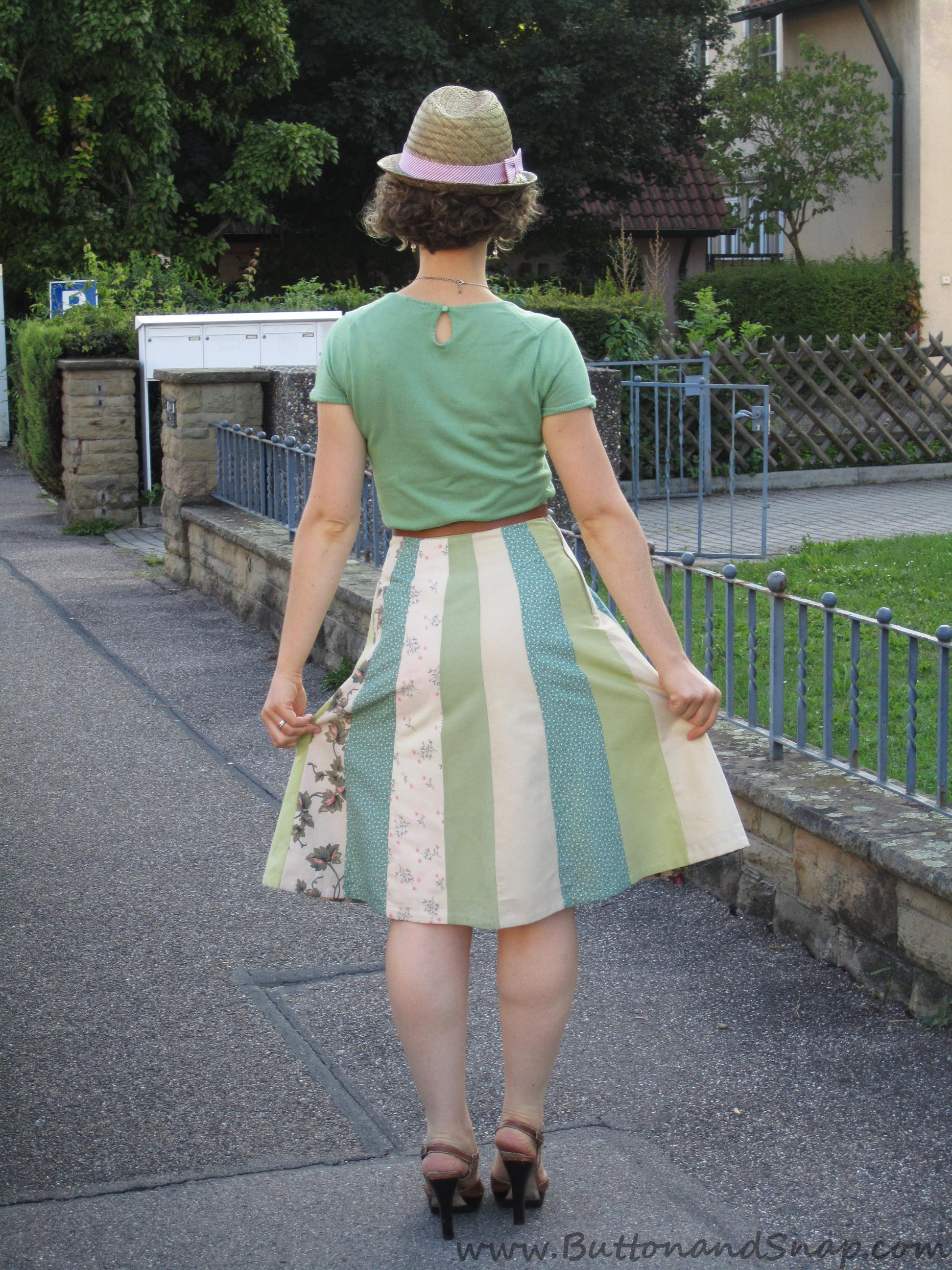 Patchwork Skirt Back