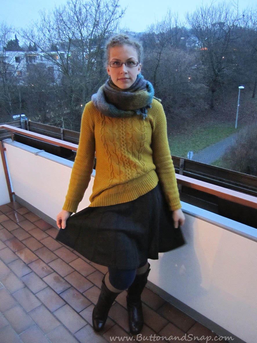 Knit Sweater and Skirt