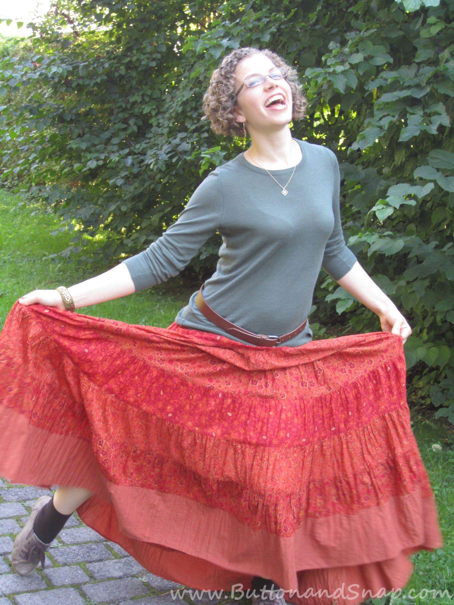 upcycling refashioning maxiskirt dress