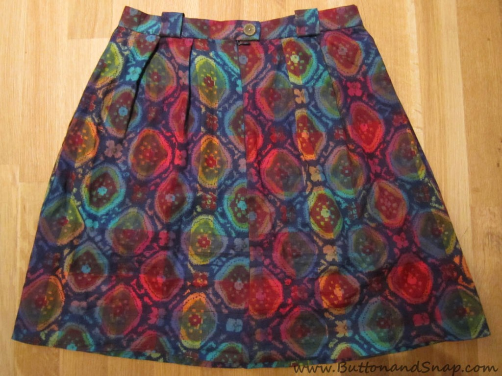 Pleated Ikat Skirt 5