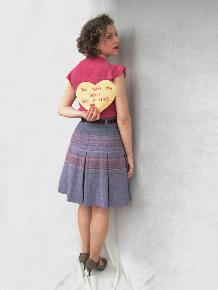 You make my heart skip a stitch