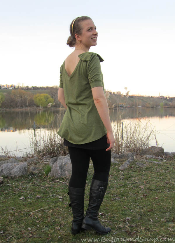 Green Bow Tee Back