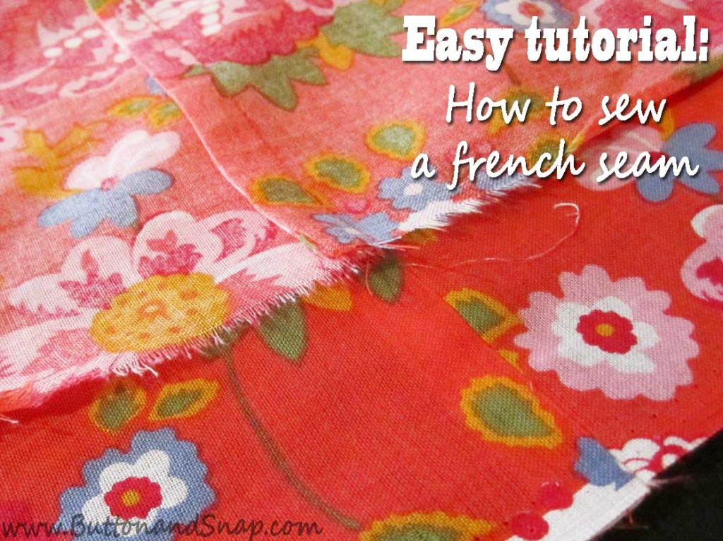 Facebook french seam tutorial