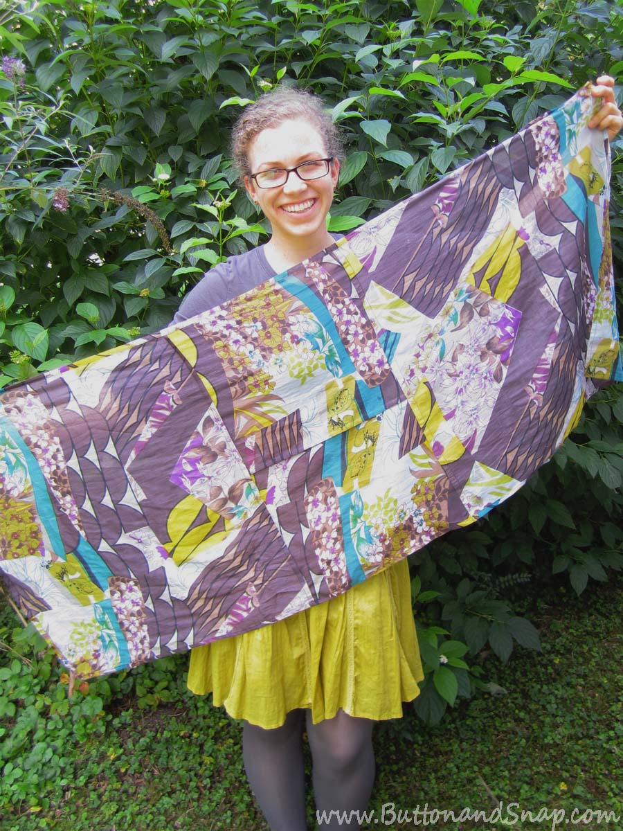 Piecing Upcycled Scarf