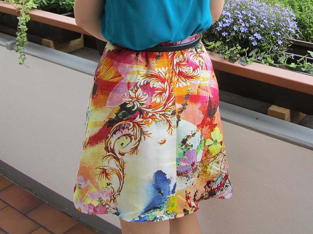 Rainbow Skirt back closeup