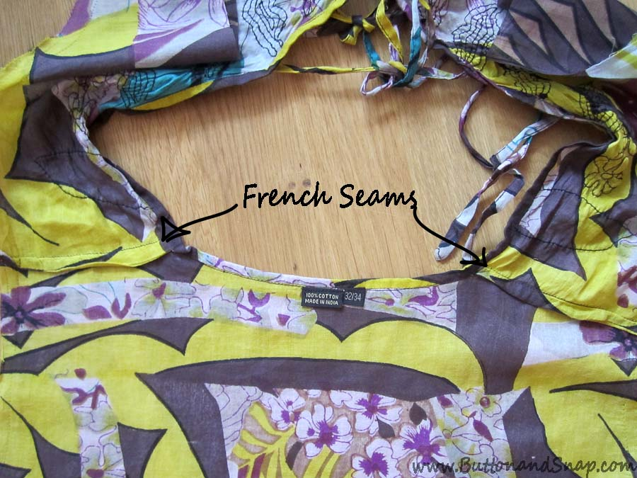 Tunic french seams