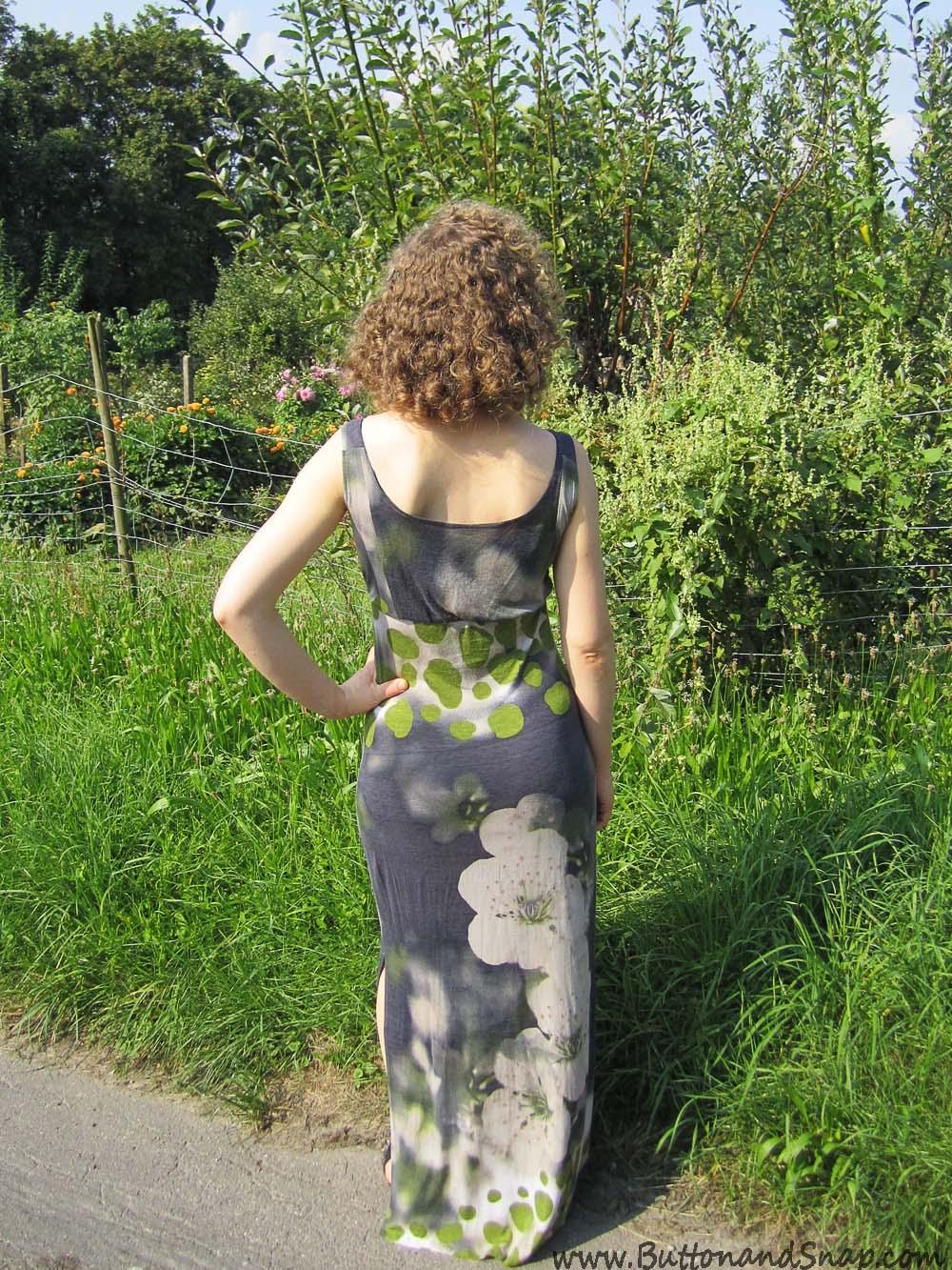 Jerse maxi dress Back 1