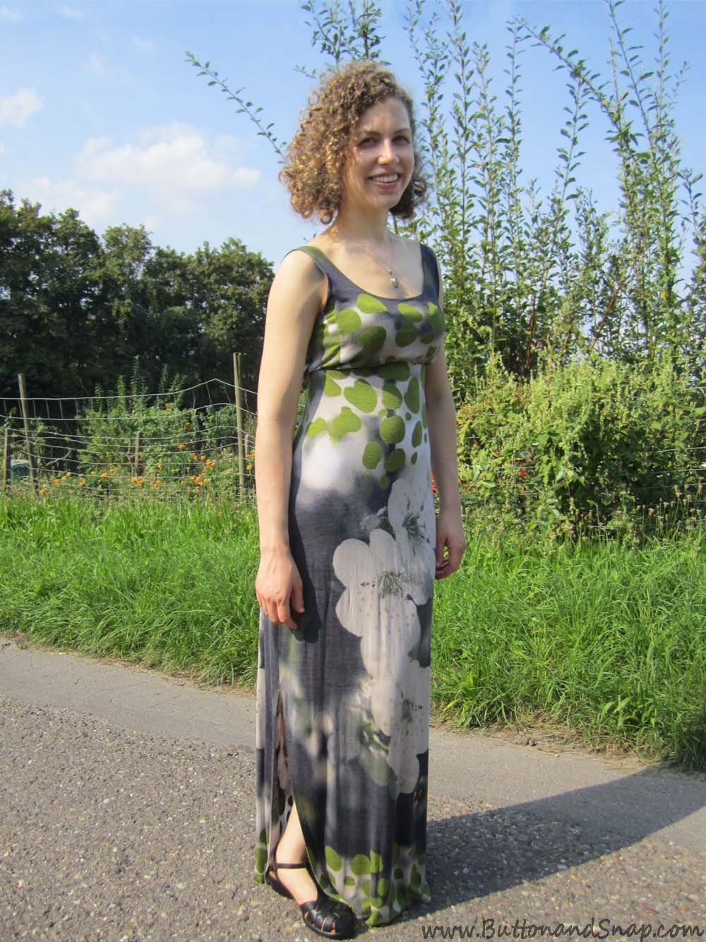 Jersey maxi dress Front 3