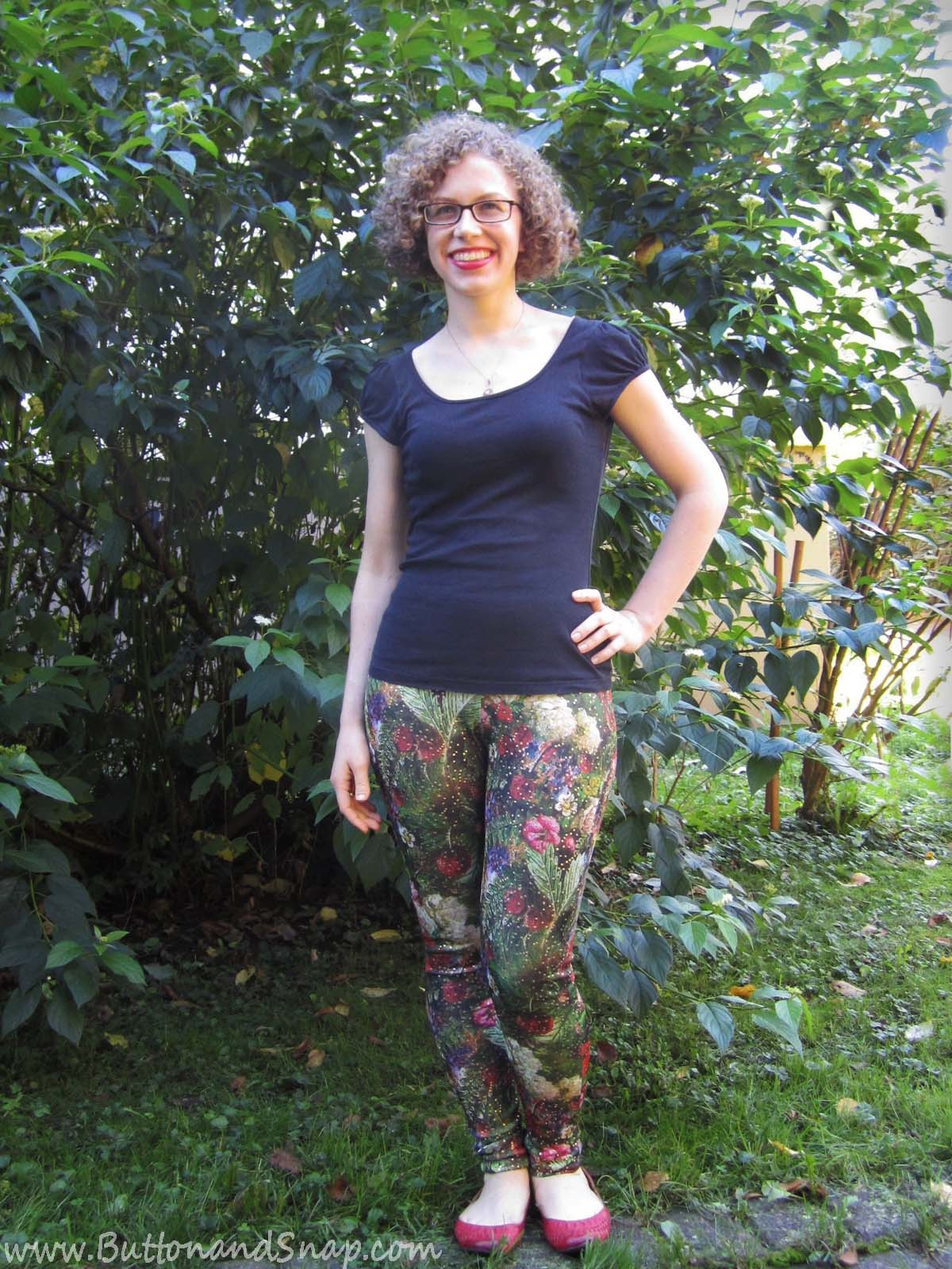 Floral leggings front 2