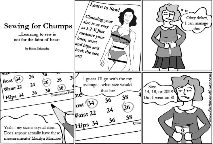 sewing comics