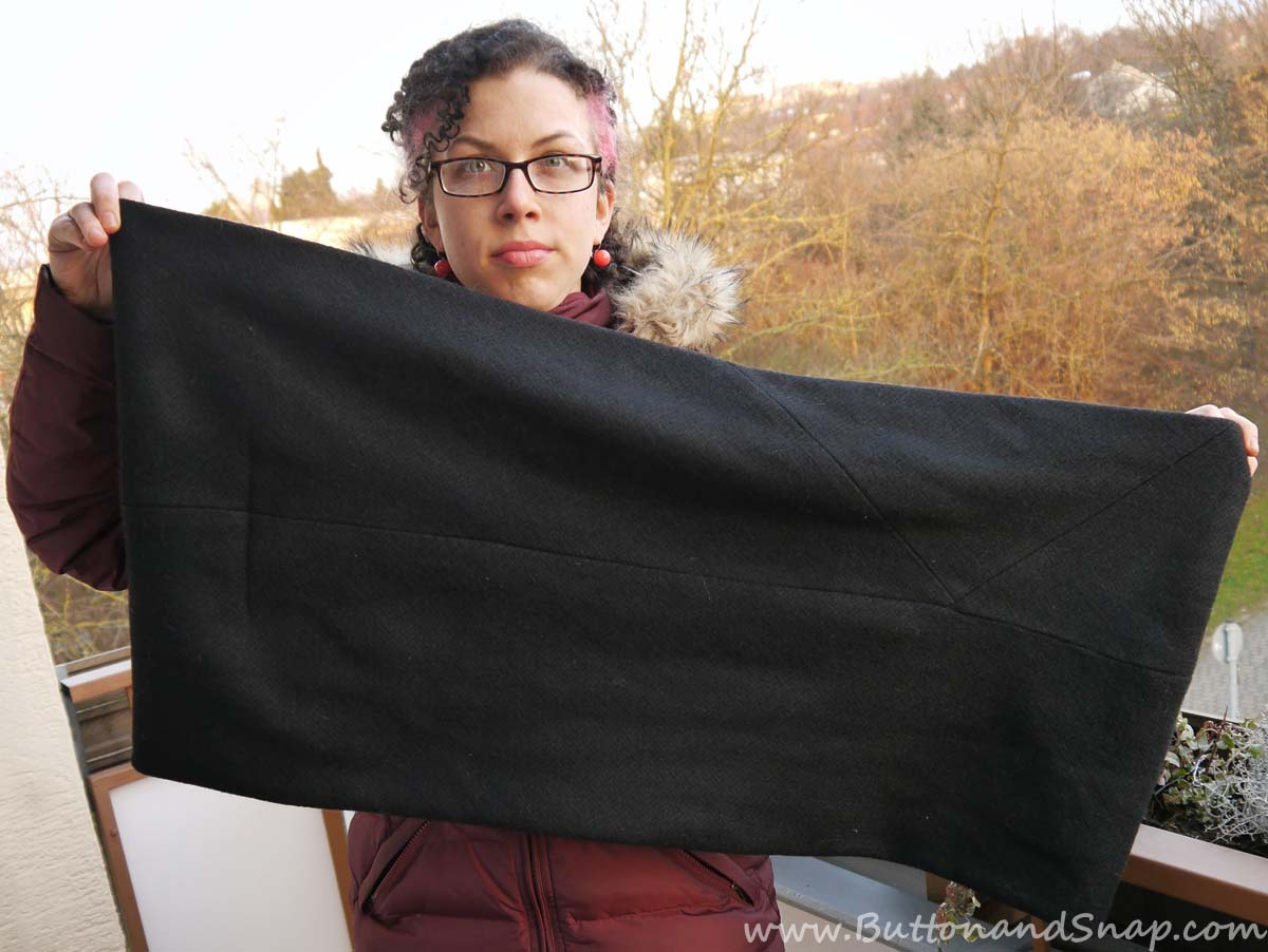 Black Scarf Full Length