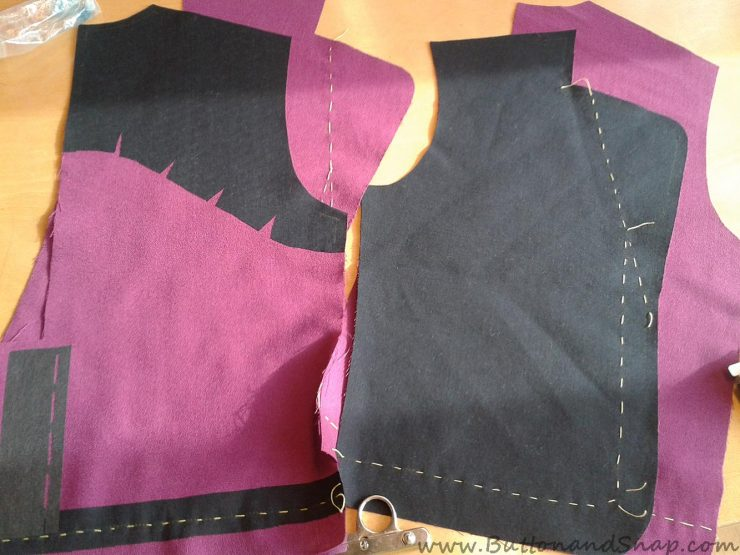 Front and Back unsewn