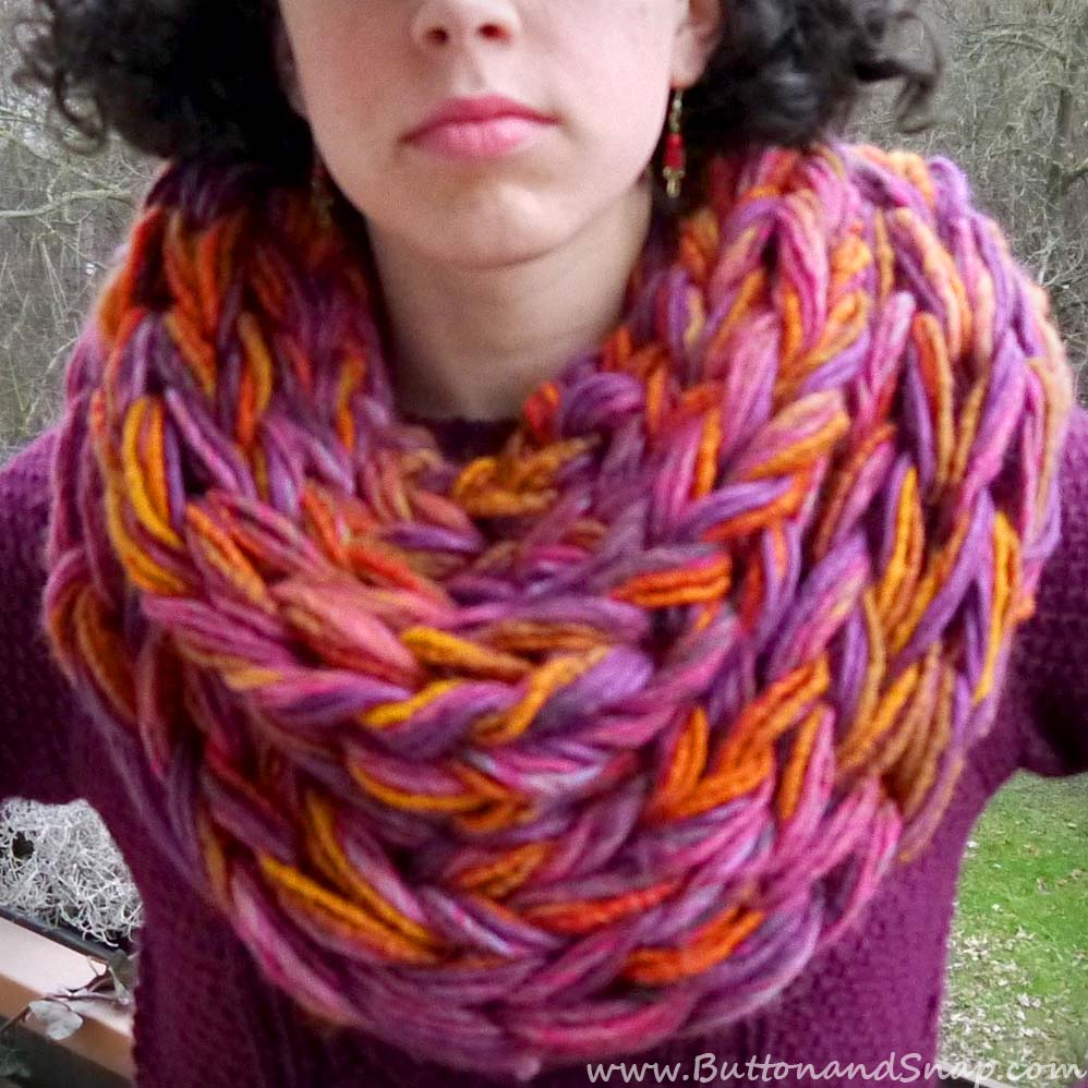 Sunset scarf closeup