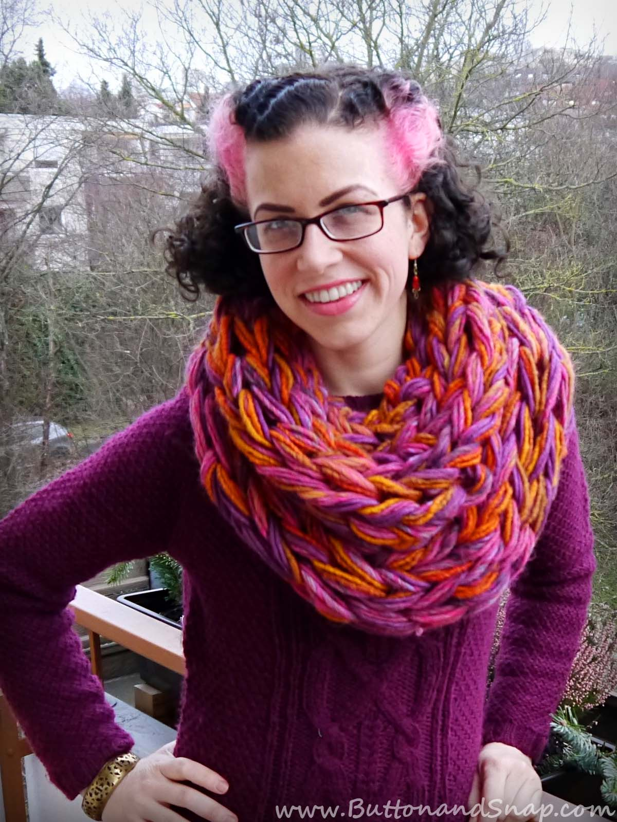 Sunset scarf front 1