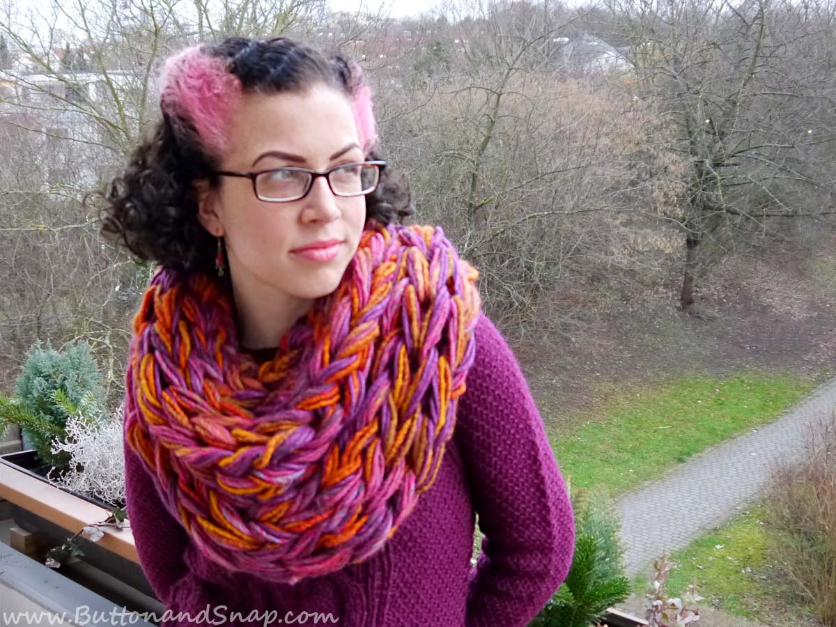 Sunset scarf front 2
