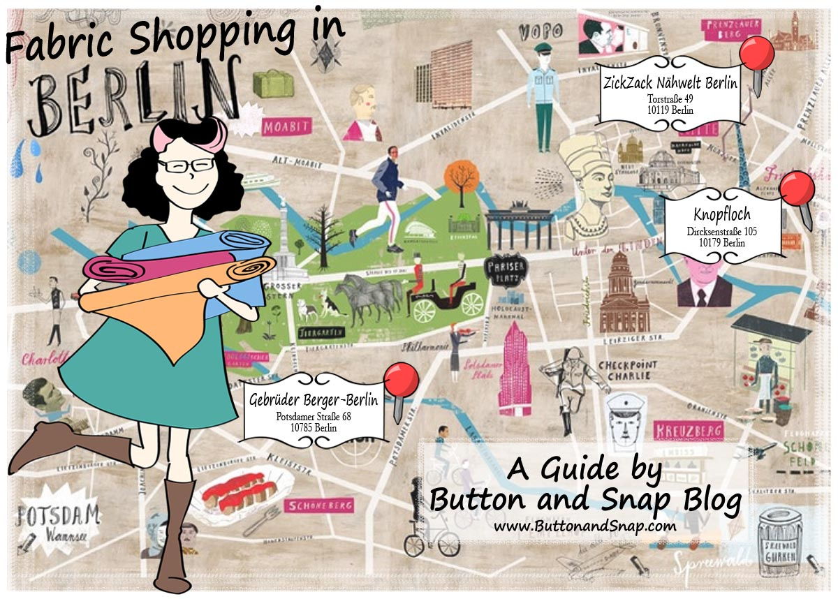 The Best Fabric Stores In Berlin Germany Button Snap Vintage Sewing Machine Threading Guides Stitch Nerd Shopping Map