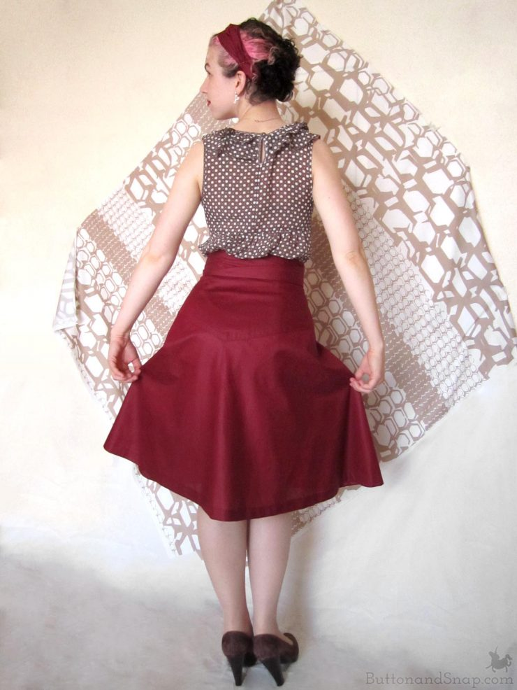 Burda 11:2014 Wrap Skirt Back 1