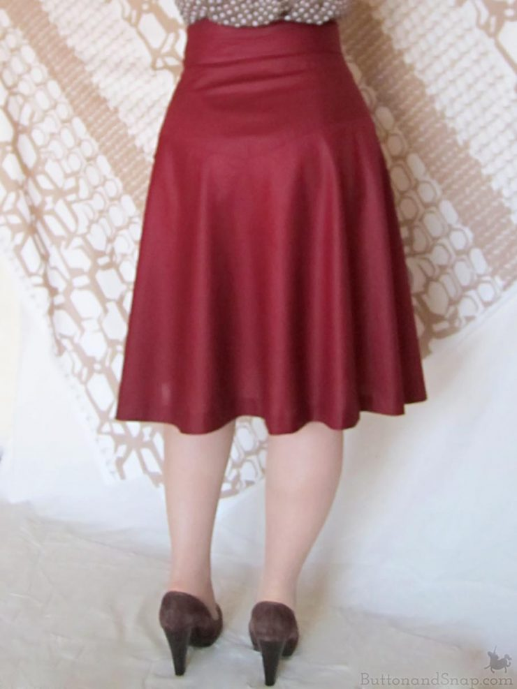 Burda 11:2014 Wrap Skirt Back Closeup 1
