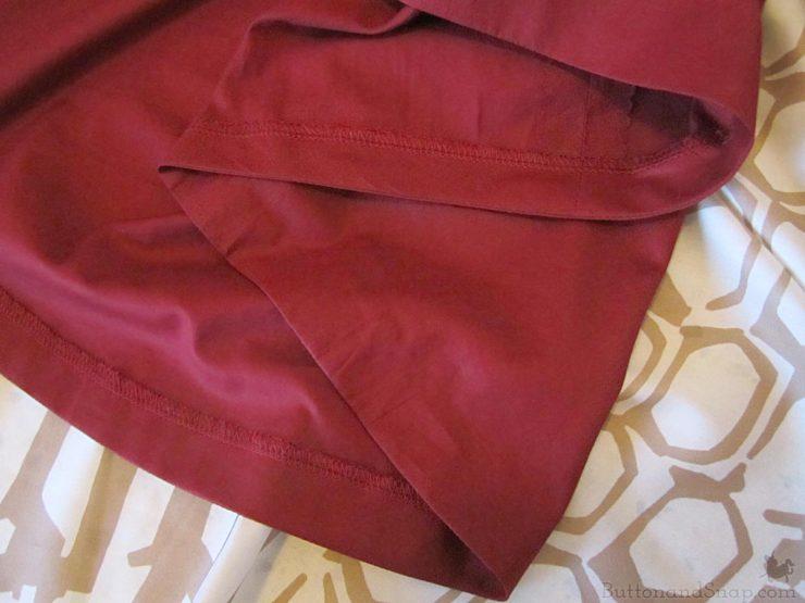 Burda 11:2014 Wrap Skirt Faced Hem