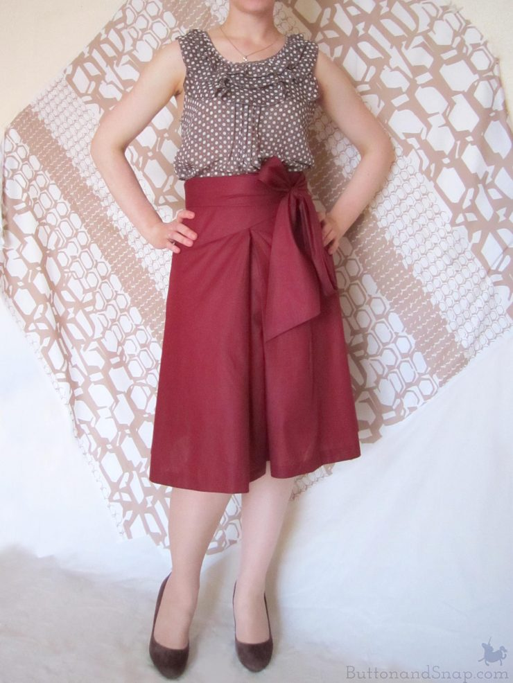 Burda 11:2014 Wrap Skirt Front 2