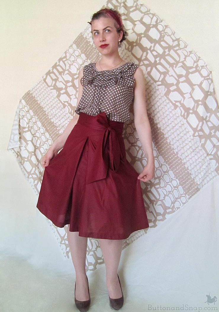 Burda 11:2014 Wrap Skirt Front 3