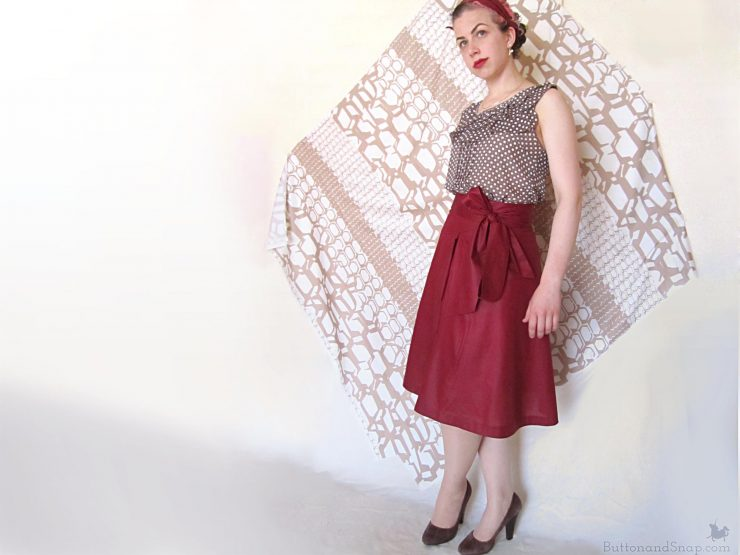 Burda 11:2014 Wrap Skirt Side 1