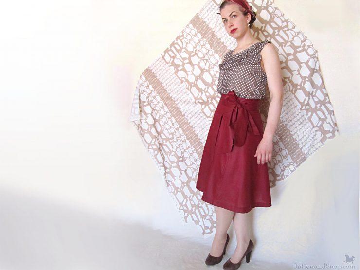 Burda 11:2014 Wrap Skirt Side 1