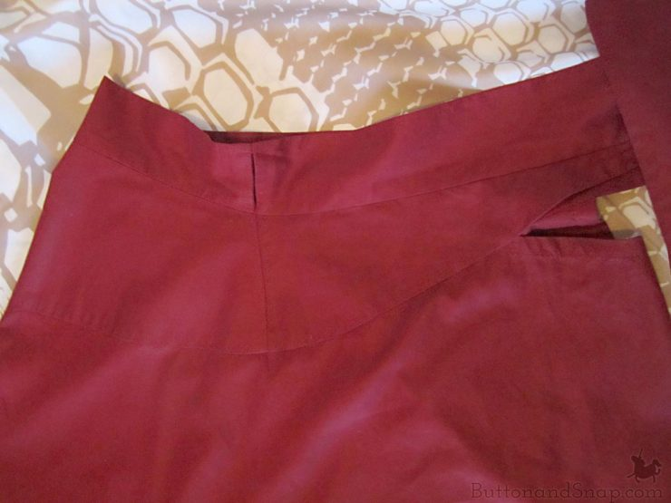 Burda 11:2014 Wrap Skirt Waistband Construction