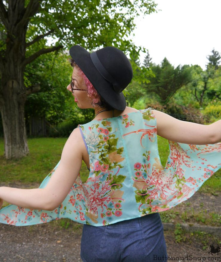 Refashioned chiffon vest back 3