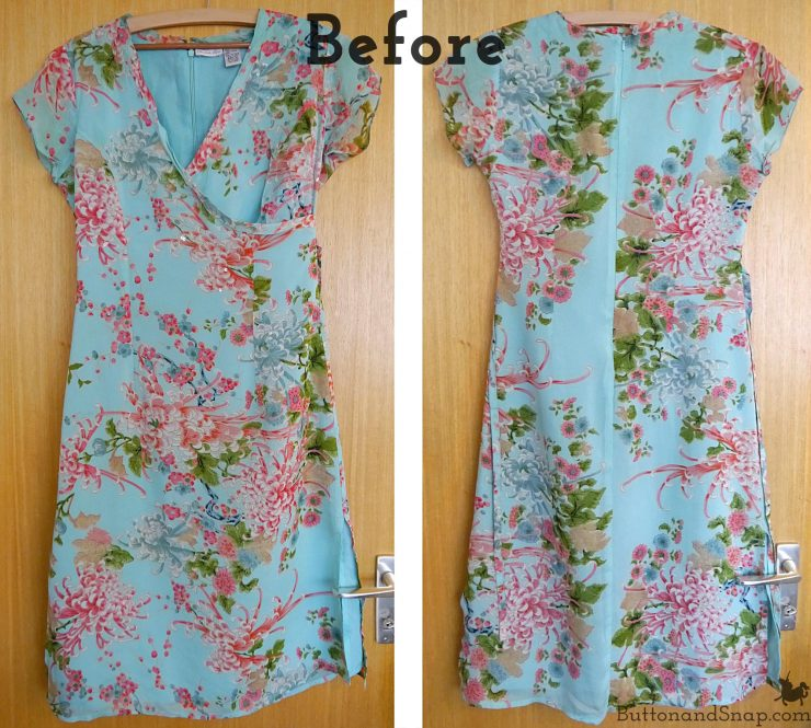 Refashioned chiffon vest before