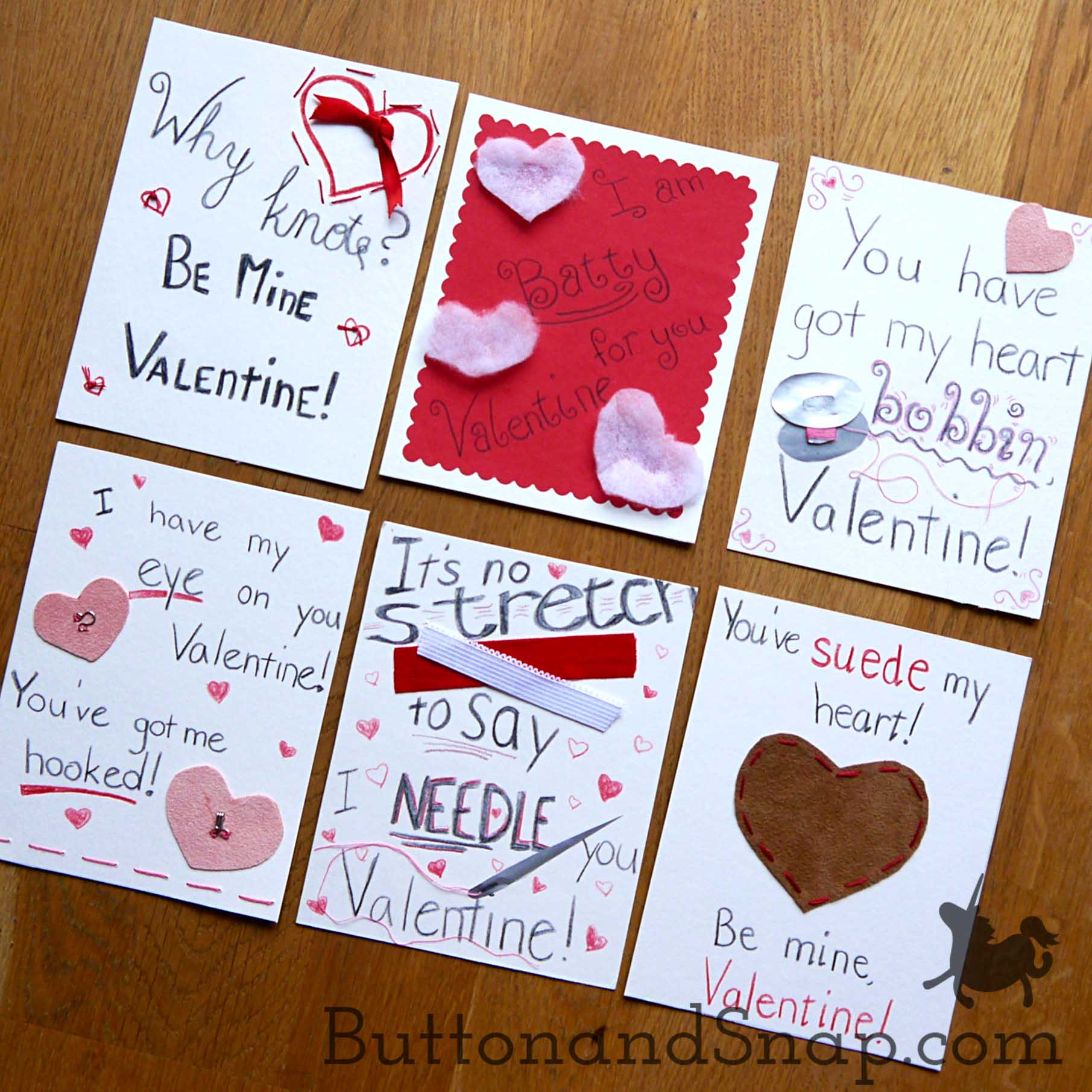 Pun-tastic Ideas for Sewing Valentines! ...well, for next year - Button &  Snap