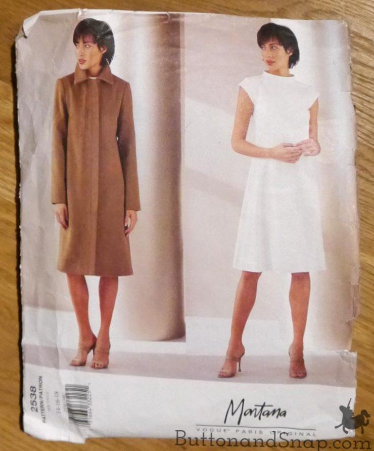Two-piece dress Vogue pattern 2538