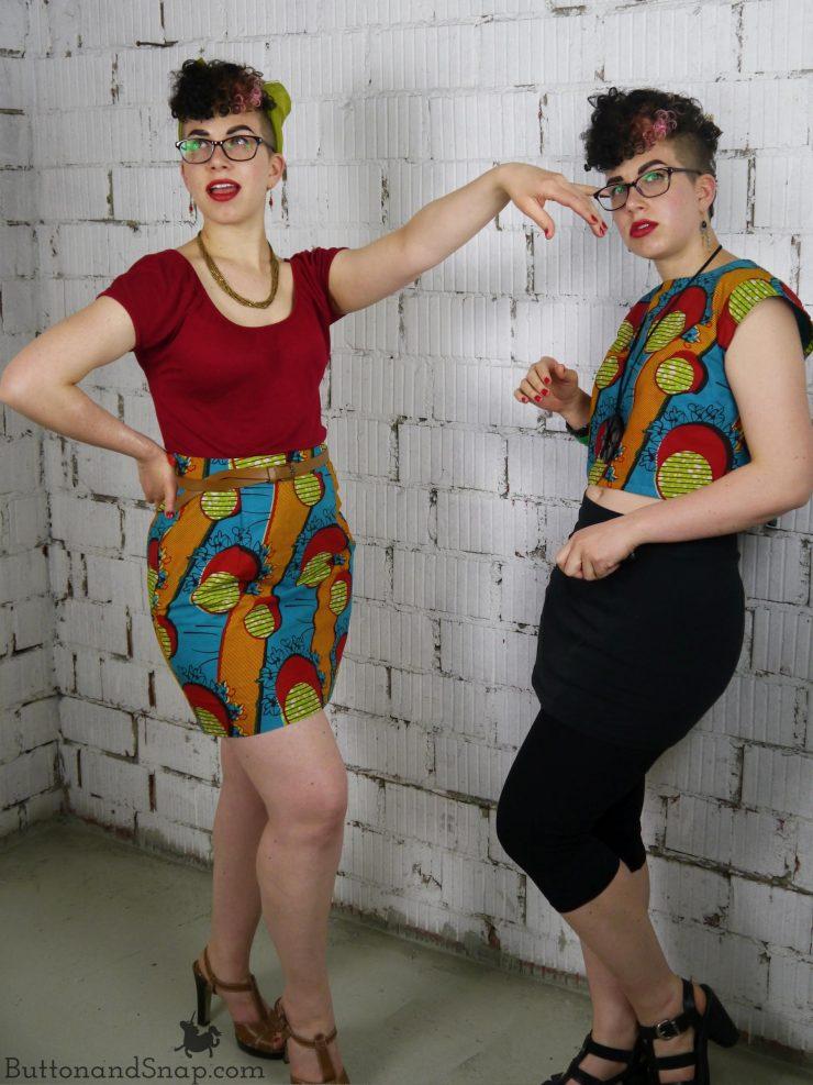 Two-piece dress two ways