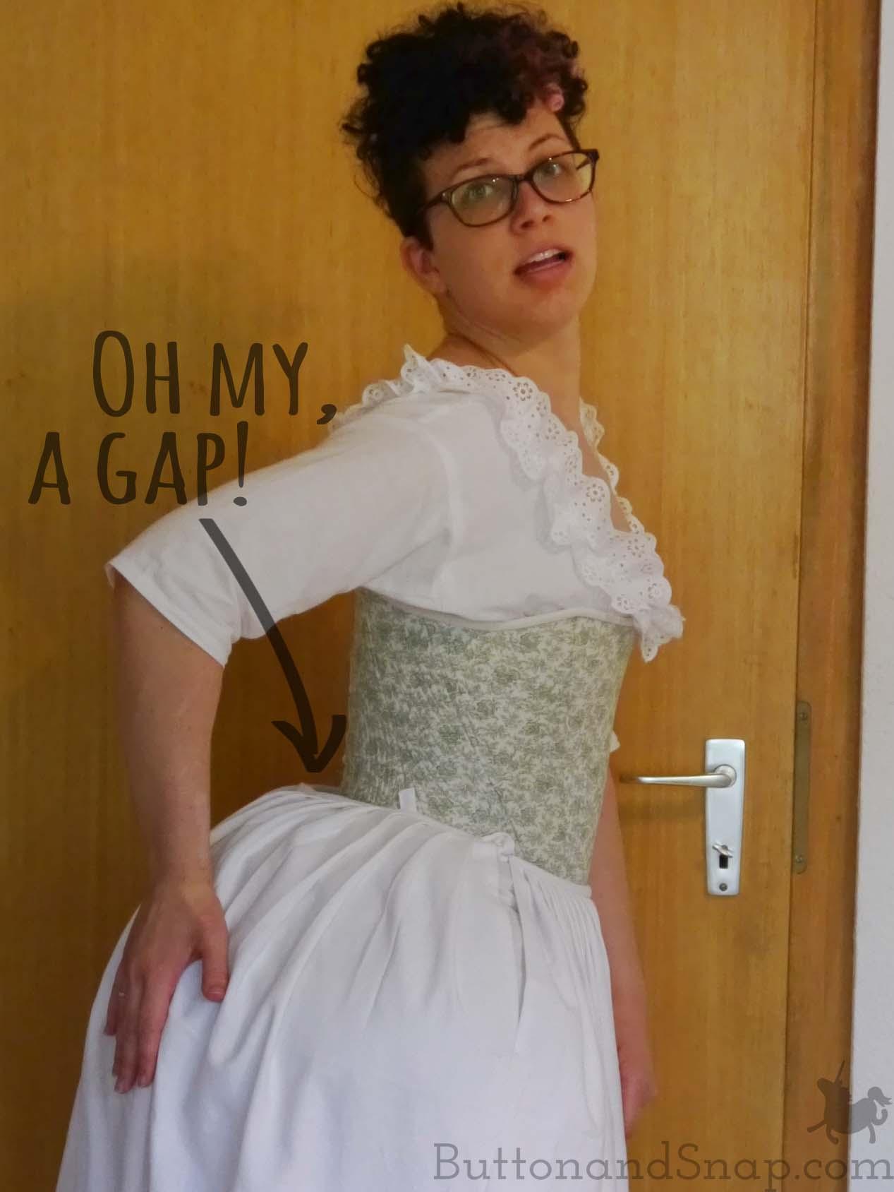 First 18th cen Petticoat Waist Gap