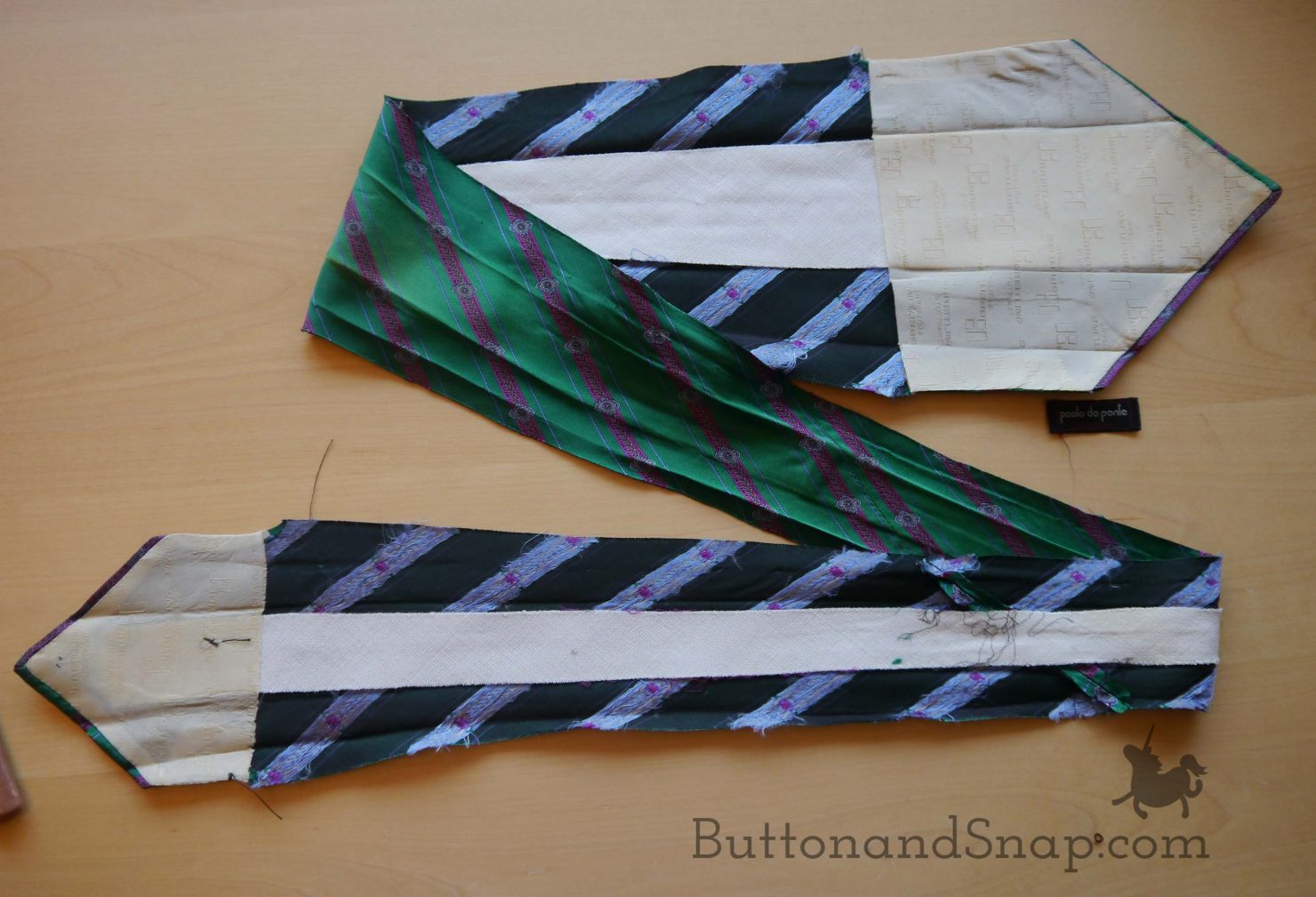 Making bias tape_opening tie