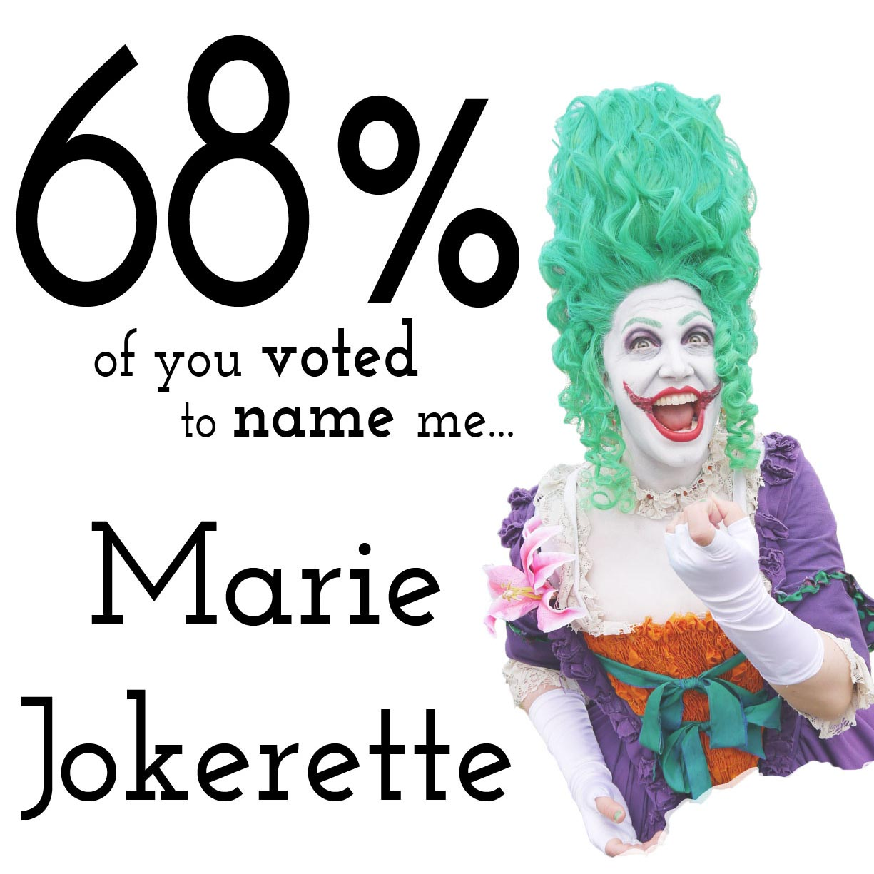 Marie Jokerette cosplay character name vote